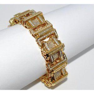 Jewelry - 8.50 Carats small sparkling diamonds MENS bracelet